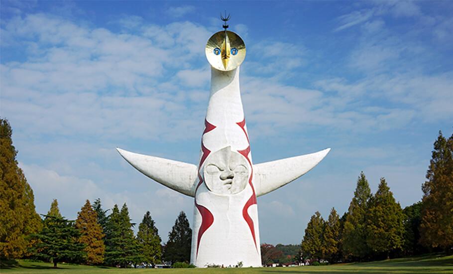 フチ子と岡本太郎のコラボ!コップのフチの太陽の塔