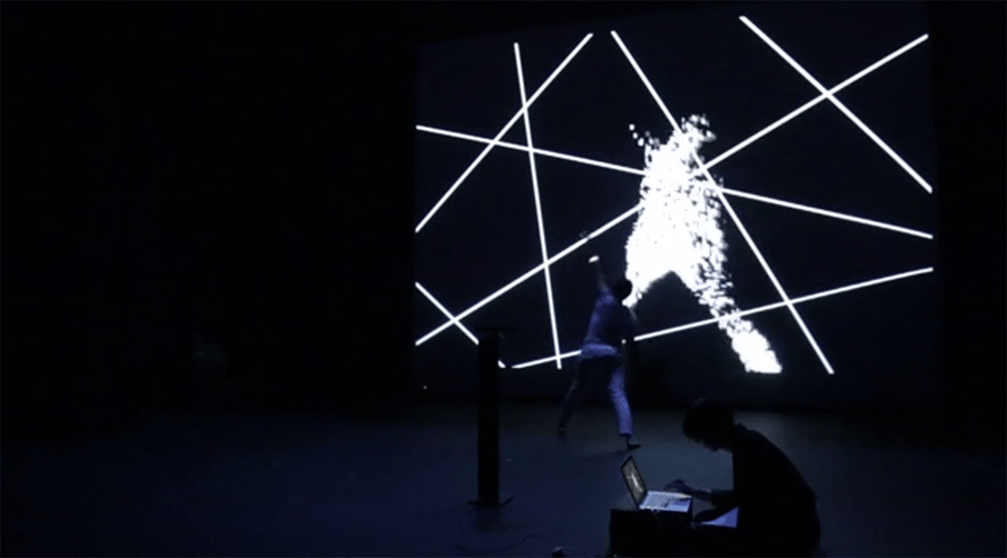 A dance performance utilized with technology