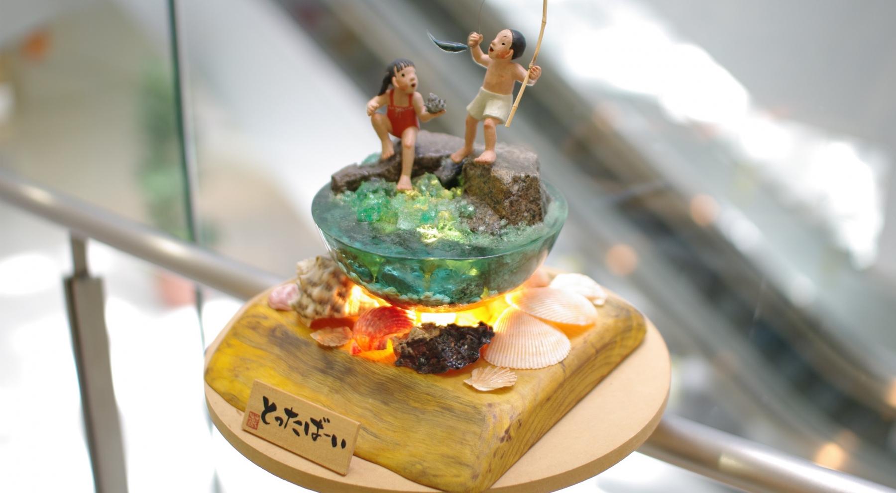 アクロス福岡で開催中!福岡の古き良き時代を伝える「あかり絵の世界」