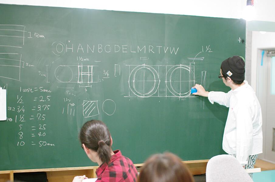 美しいアルファベットを書くドローイング・レター