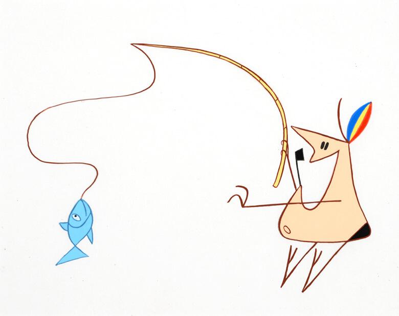 デュシャン・ヴコティチ監督『エアザッツ(代用品)』(1961年)セル画 【原画展示/会場内上映作品】