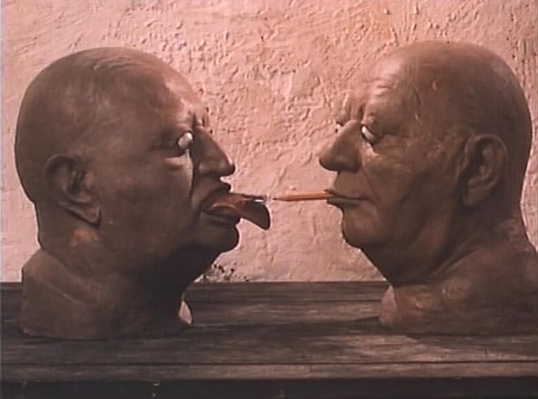 ヤン・シュヴァンクマイエル監督『対話の可能性』(1982年) ©Kratky Film Praha a.s.配給:チェスキー・ケー【会場内部分上映作品】