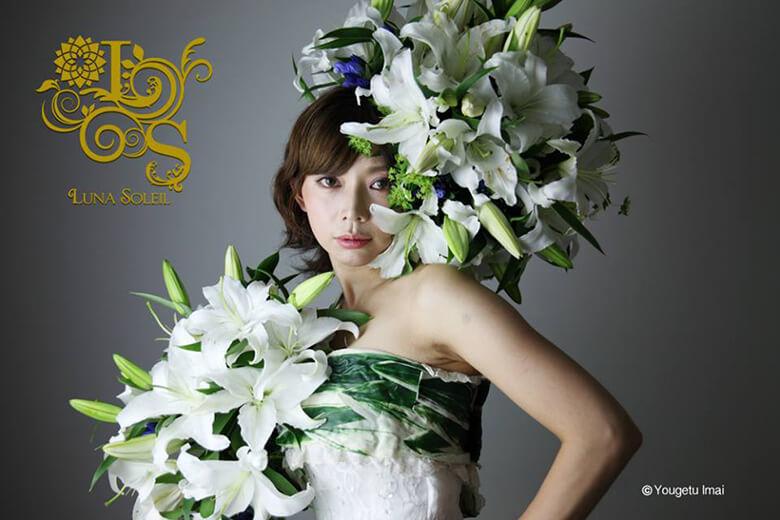 model:yuuko, flower art:今井陽月,photograph:今井陽月