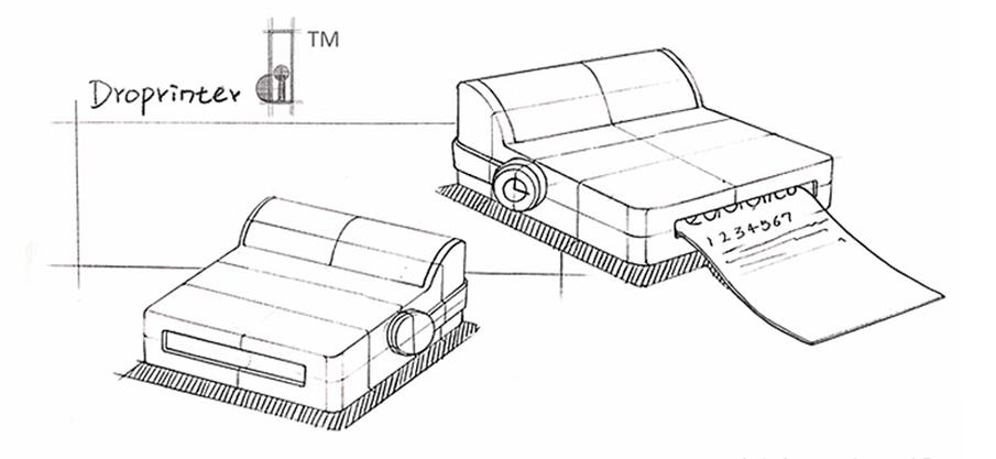 スマホ専用のポータブルプリンター「droPrinter」
