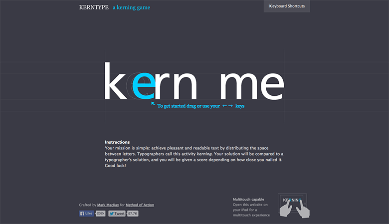 引用元:KERN TYPE  the kerning game 公式サイト