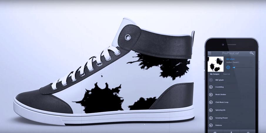 ボタンひとつでデザインが変わる!インタラクティブな靴「SHIFTWEAR」