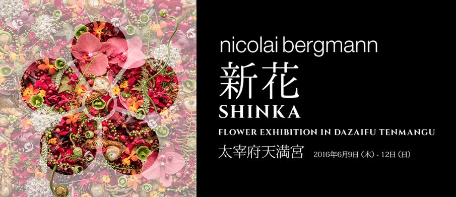 3ヶ所で開催!</br>ニコライ・バーグマン展覧会「新花-SHINKA-」