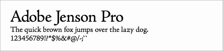 Adode jenson Pro