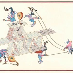 『さかさま』1969年※作品はすべて津和野町立安野光雅美術館所蔵(c)空想工房 画像提供:津和野町立安野光雅美術館