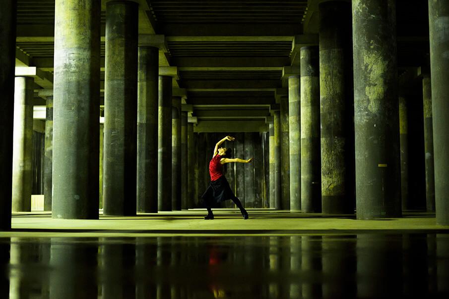 山王雨水調整池でのダンスパフォーマンスを目撃する