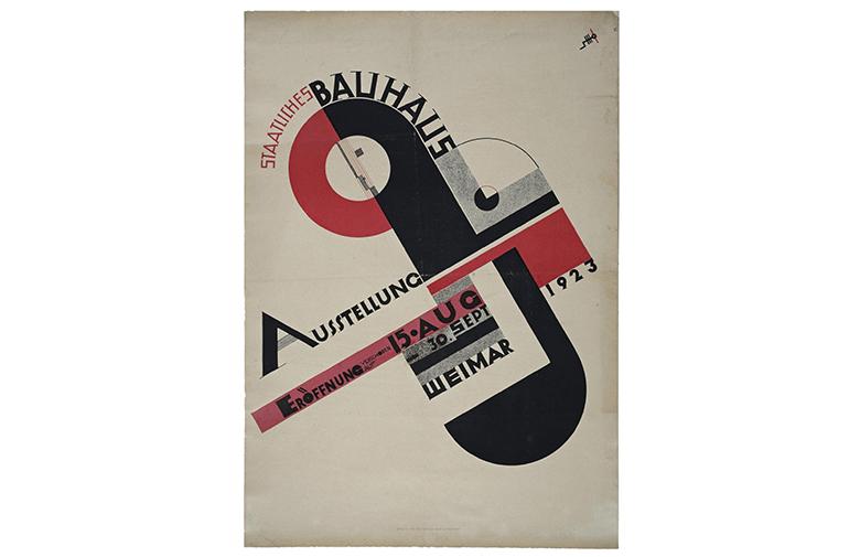 ヨースト・シュミット 1923年バウハウス展 ポスター 引用元:100 years of bauhaus