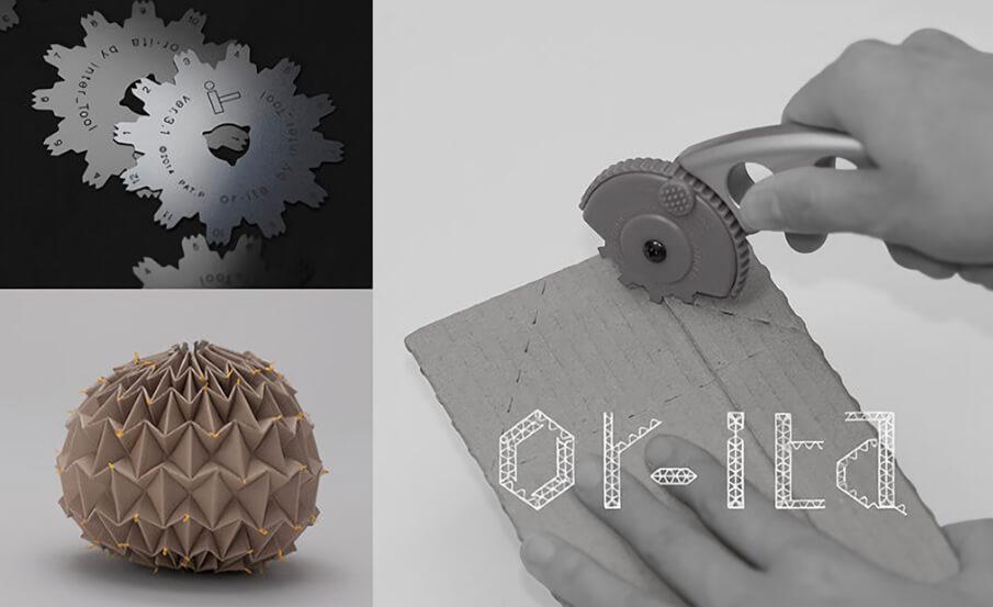 夢の知育玩具・工作ツール。ダンボール折り曲げカッター「or-ita」