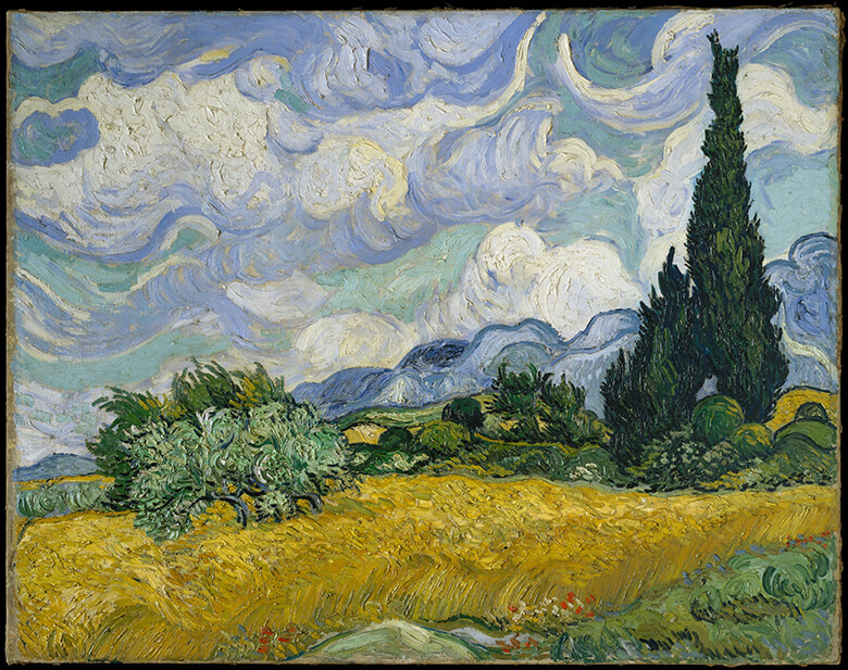 Wheat Field with Cypresses / Vincent van Gogh