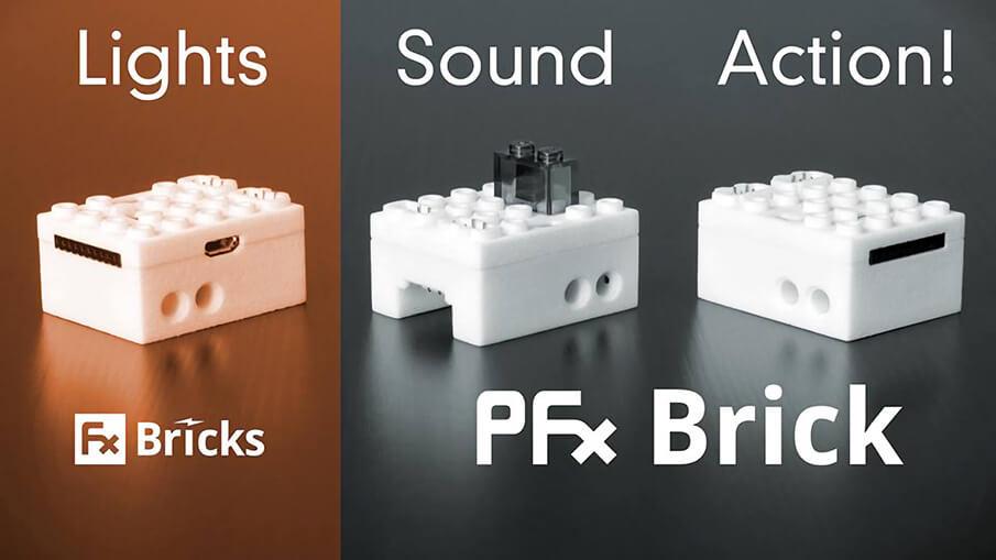 光と音を新たに取り入れた、ひらめきを与えるLEGO®ブロック「PFx Brick」