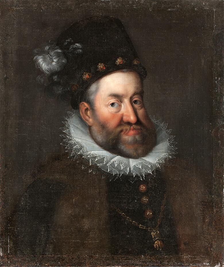 ハンス・フォン・アーヘン作のコピー 《ハプスブルク家、神聖ローマ帝国皇帝ルドルフ2世の肖像》1600年前後、油彩・ キャンヴァス、スコークロステル城、スウェーデンSkoklosterCastle, Sweden