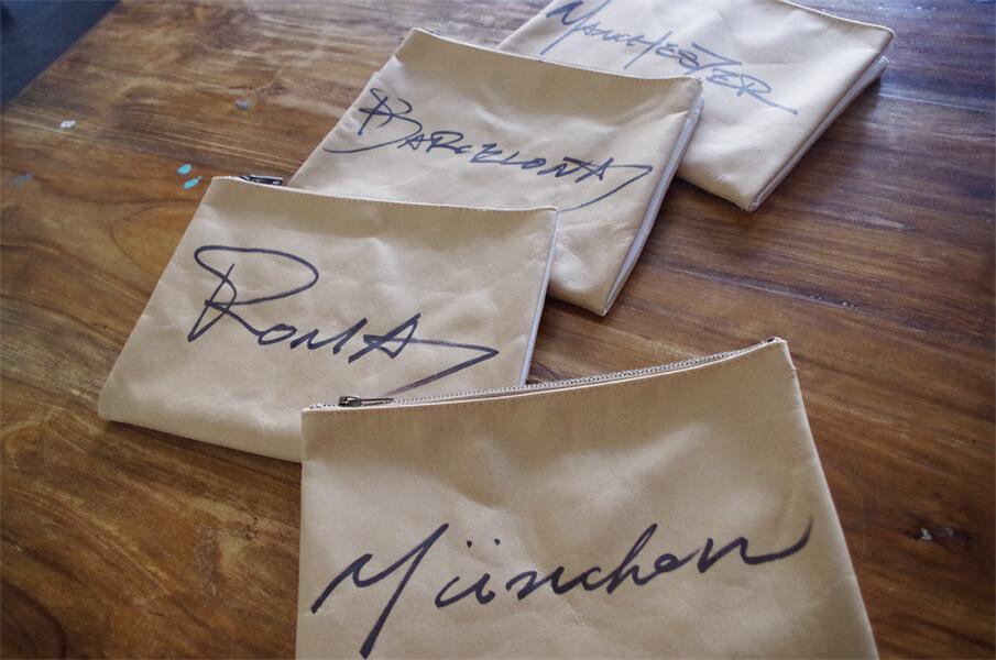 まるで封筒みたい!?紙でできた「MATATABI」のクラッチバッグ