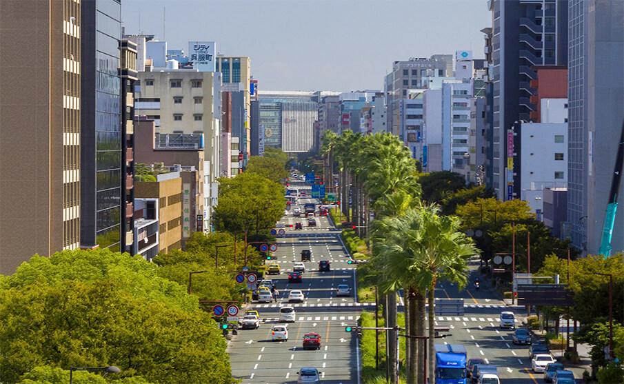 福岡市内に走るスカイウェイ構想