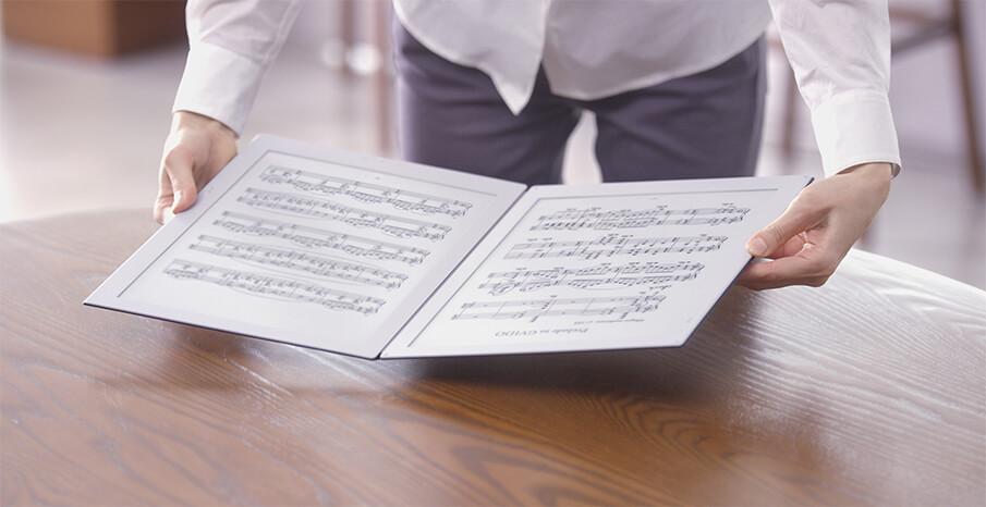 音楽シーンに革命をもたらす電子楽譜専用端末「GVIDO」