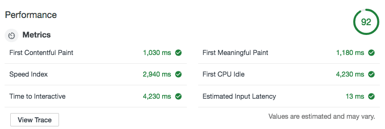 AMP対応後のデモページの速度検証結果