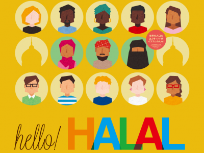"We designed the graphics for the exhibition ""What is halal?"", which is organized by the Association of International Exchange Non-profit Organization."