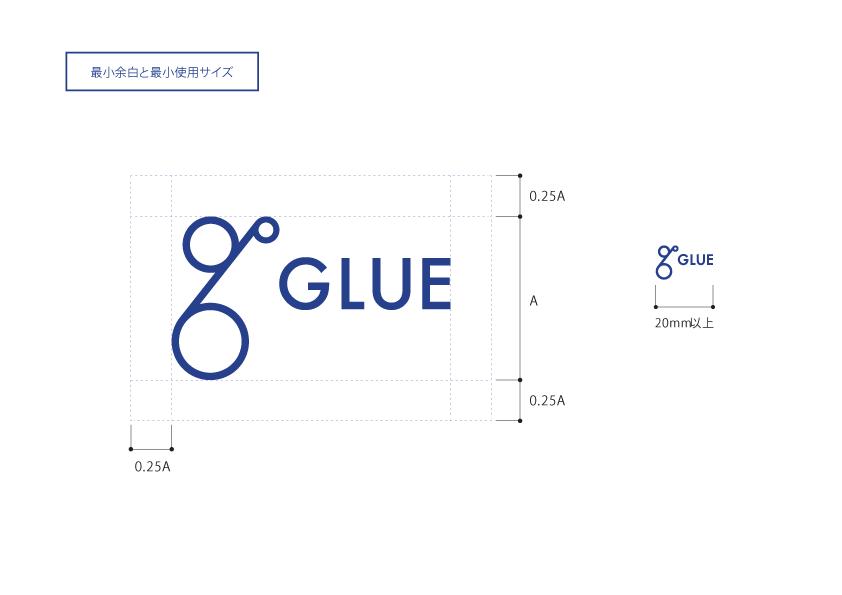 グルー株式会社様のブランディングに携わらせて頂きました。ブランディングの一環としてロゴ、名刺、ツールを制作させて頂きました。